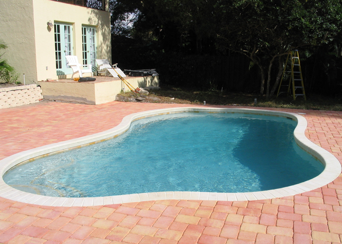 Pool services lightning pools pavers for New pool installation